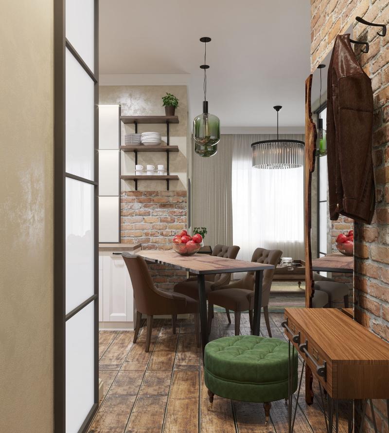 заказать дизайн проект однокомнатной квартиры