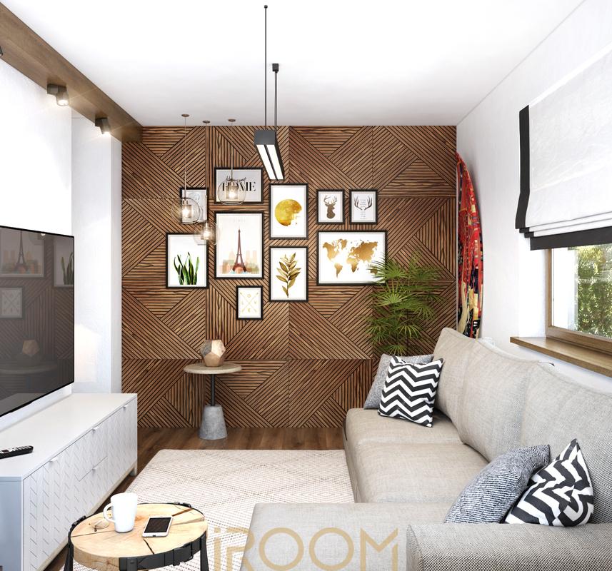 dizajn inter'era chastnogo doma na Rublevke gostinaya