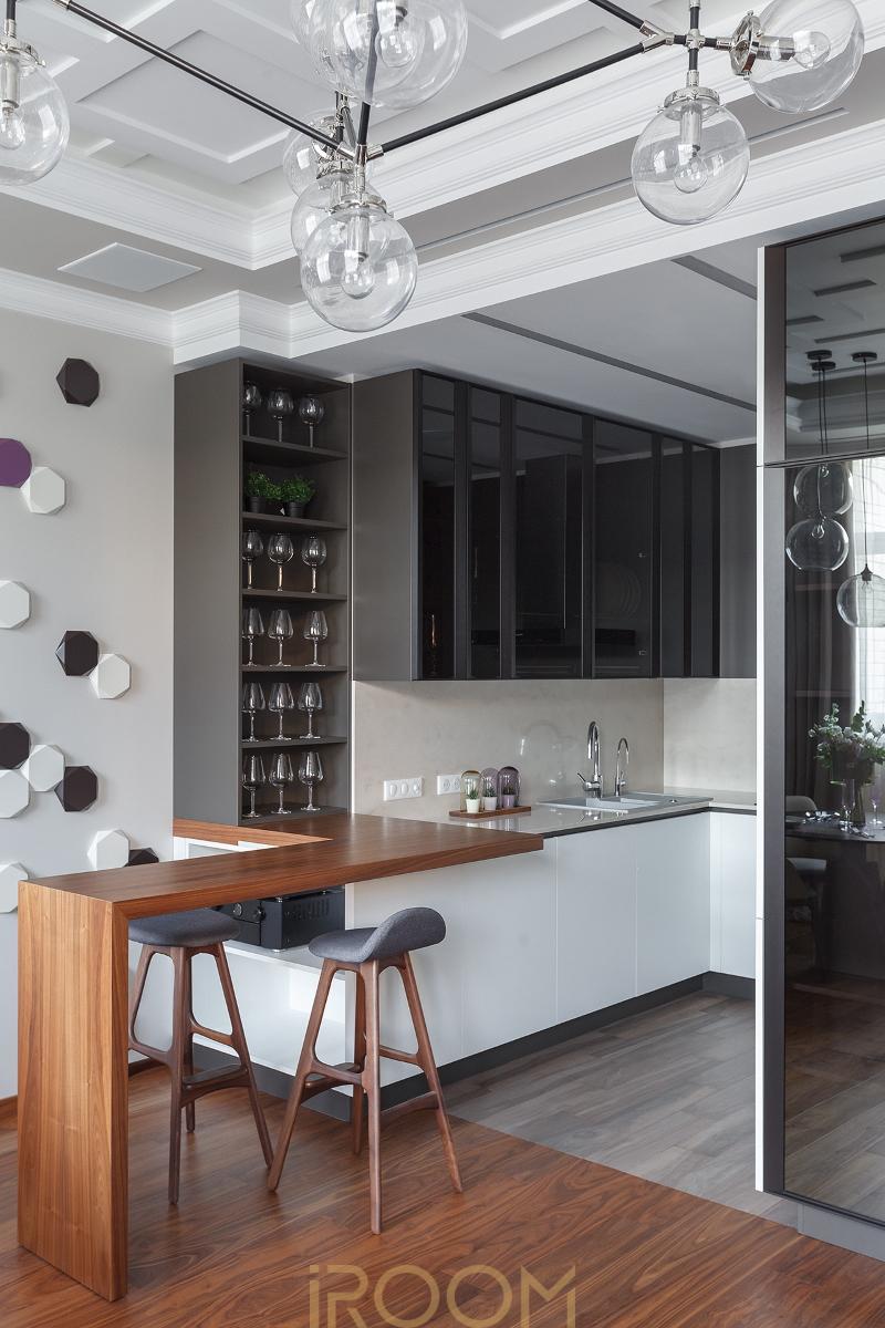 dizajn kuhni gostinoj dom na Lyusinovskoj
