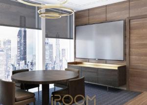 dizajn ofisa kabinet direktora 4 300x214 - Дом на Люсиновской 98 м²