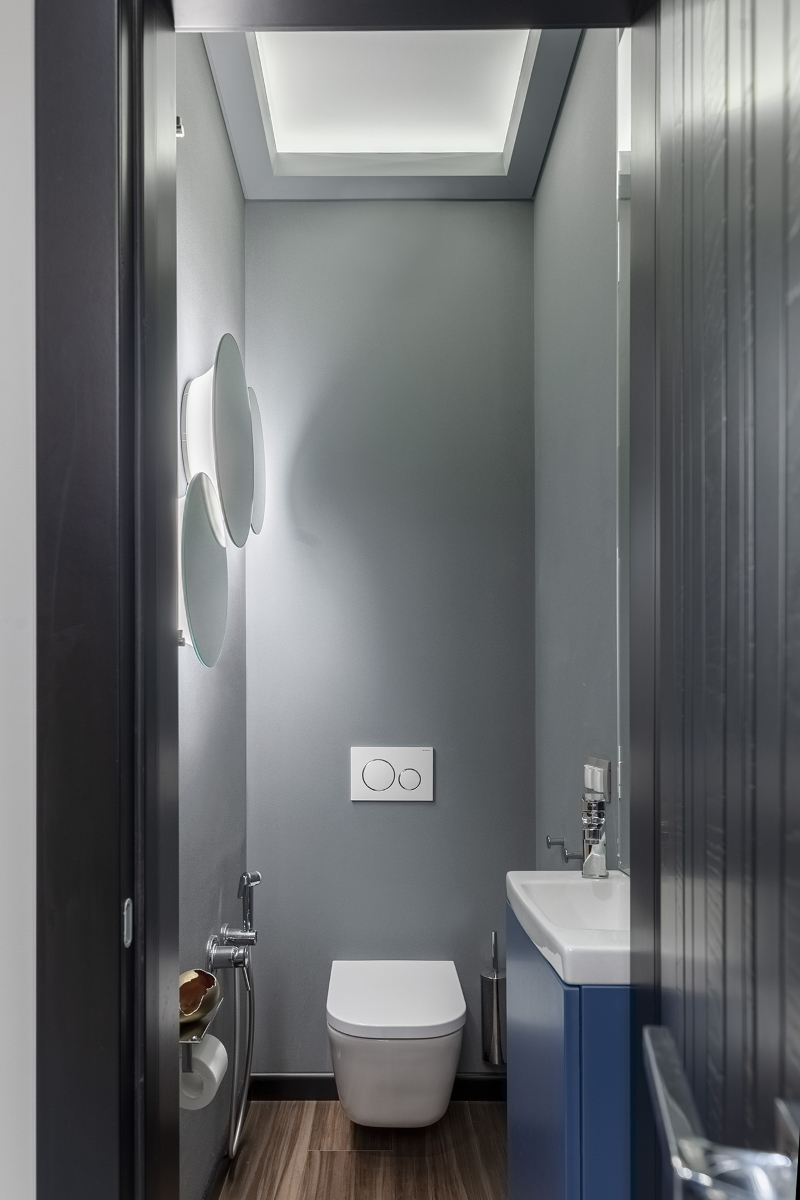 современный санузел 3 комнатной квартиры