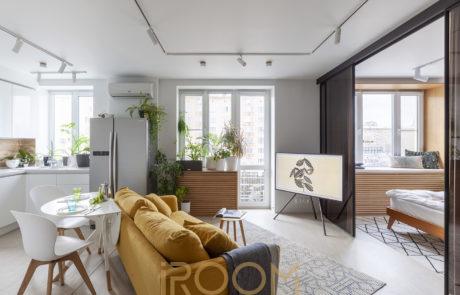 dizajn dvuhkomnatnoj kvartiry na leninskom prospekte 1 460x295 - Дизайн квартир, коттеджей и офисных помещений