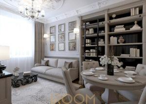 dizajn odnokomnatnoj kvartiry ZhK Carskaya ploshchad 1 300x214 - Офис Москва-Сити 180 м²