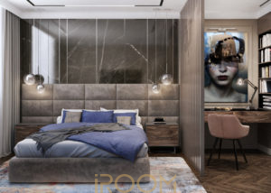 dizajn proekt dvuhkomnatnoj kvartiry 80 kv m 14 300x214 - Квартира на Ленинском проспекте 46 м²