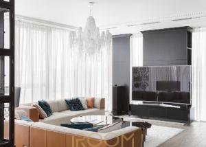 dizajn proekt interera kvartiry ZhK Legendy cvetnogo gostinaya 2 300x214 - ЖК Графские Пруды 460 м²