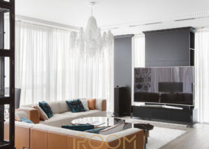 dizajn proekt interera kvartiry ZhK Legendy cvetnogo gostinaya 2 300x214 - Квартира на Мичуринском 65 м²