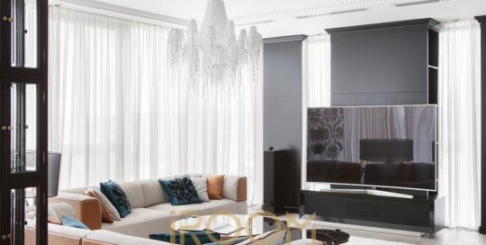 dizajn proekt interera kvartiry ZhK Legendy cvetnogo gostinaya 2 540x272 - Дизайн помещения стоимость Design