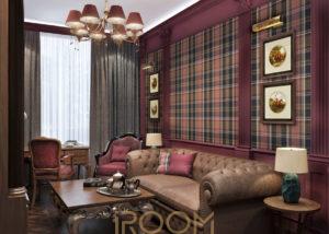 dizajn proekt kvartiry na Vavilova kabinet 2 300x214 - Офис Москва-Сити 180 м²