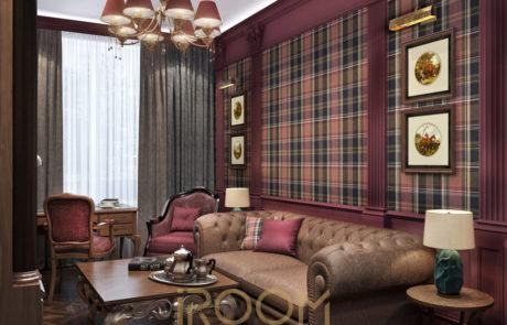 dizajn proekt kvartiry na Vavilova kabinet 2 460x295 - Дизайн квартир, коттеджей и офисных помещений