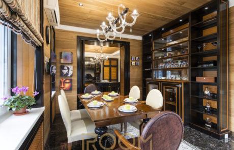 interer zagorodnogo doma KP Pokrovskij kuhnya 2 460x295 - Дизайн квартир, коттеджей и офисных помещений
