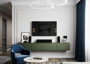 проект гостиной в квартире