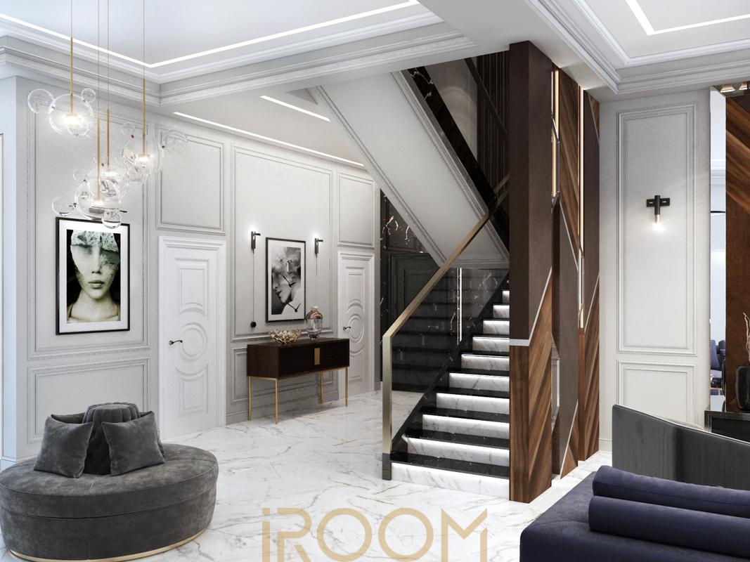 проект гостиной в частном доме
