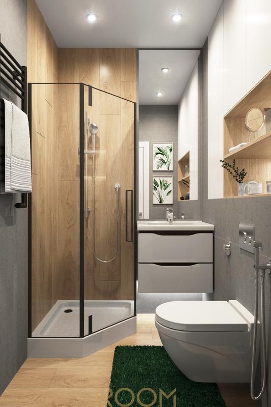 дизайн проект ванной в квартире студии цена