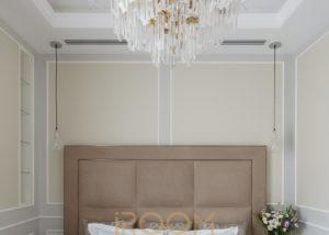 interer spalni v kvartire Lyusinovskaya ulica 1 300x214 - Спальная комната в неоклассическом стиле