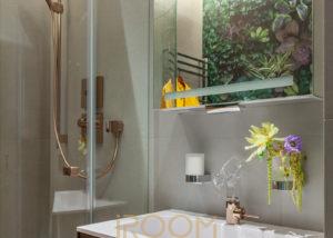Gostevaya vannaya komnata1 300x214 - Маленькая ванная комната в студии