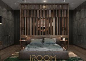 spalnaya egodom 300x214 - Спальная комната в загородном доме